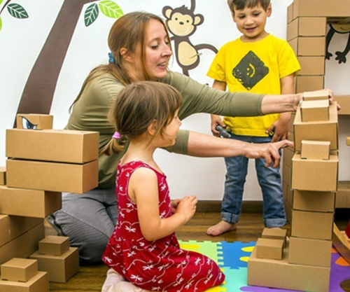 edo cardboard building blocks for kids