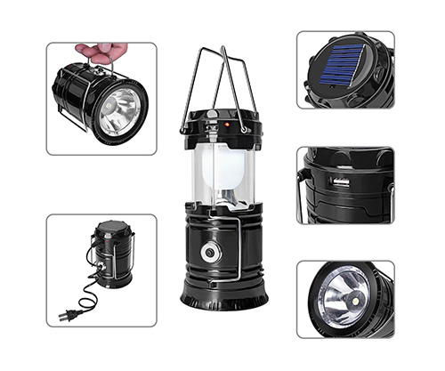 gyy solar lantern led flashlight usb charger