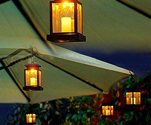 hkyh led solar candle lantern