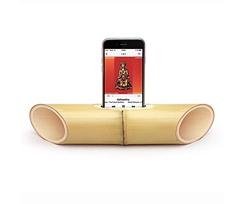 ibamboo bamboo wooden iphone portable speaker