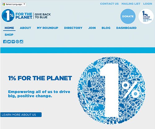 eco business one percent for the planet