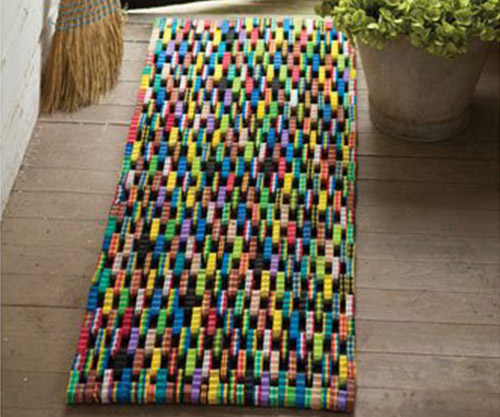 recycled flip flop door mat floor mat
