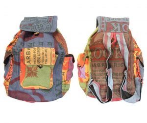 recycled jute rice bag backpack lungta