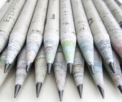recycled newspaper pencil by treesmart