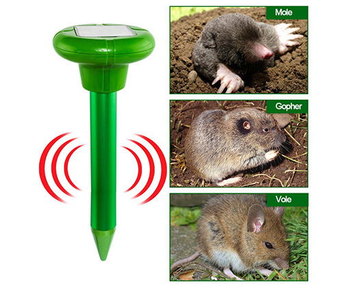 redeo solar powered mole repeller for moles rats mice