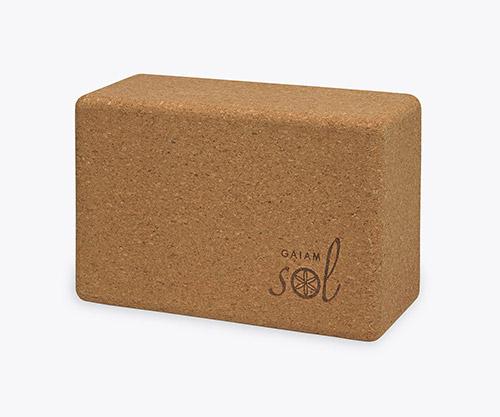 cork yoga blocks by gaiam
