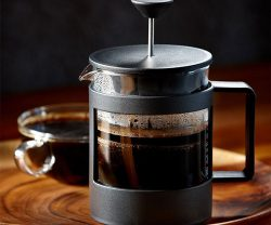 french press by starbucks and bodum