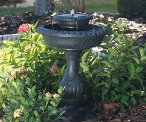 water fountain bird bath by sharper image