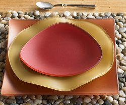 sea glass dinner plates