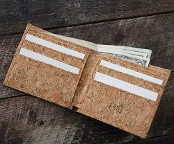 vegan wallet made from cork leather