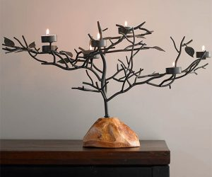 tealight candle holder tree