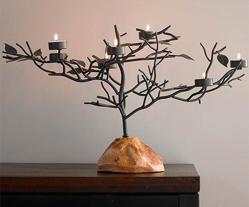 tealight candle holder tree